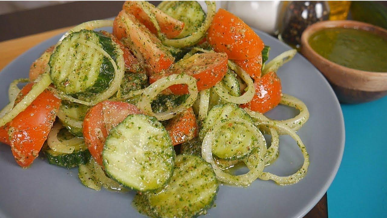 САЛАТ к ШАШЛЫКУ | Салат с ОРЕХАМИ - Идеально вкусный ОВОЩНОЙ Салат