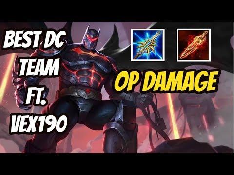 BATMAN NEW OP BUILD   FULL DC TEAM FT. Vex190   DARKBREAKER Conqueror   Arena of Valor