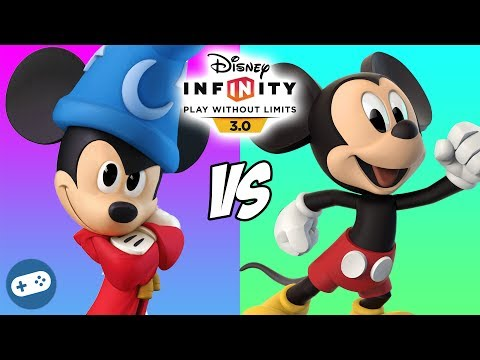 Mickey Mouse VS Sorcerer's Apprentice Mickey Disney Infinity 3.0 Toy Box Versus Fight