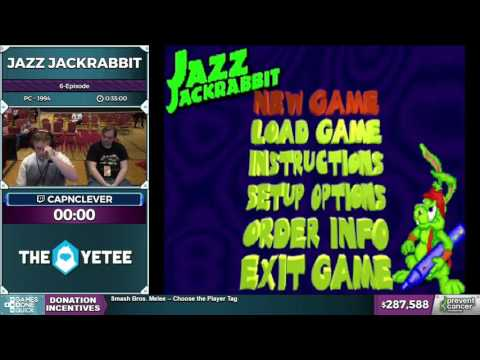 Jazz Jackrabbit by capnclever in 30:29 - Awesome Games Done Quick 2017 - Part 47