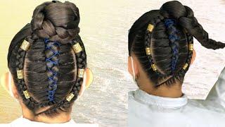 #QuedateEnCasa y #Trenza #Conmigo Hermosas trenzas con hilo chino/ #StayHome #Braids
