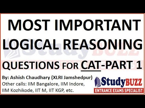 Most important logical reasoning puzzles for CAT/MBA 2018- Part 1