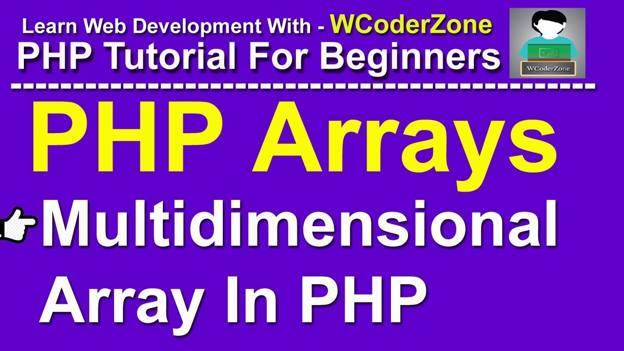 PHP Multidimensional Array - PHP Arrays Tutorial English