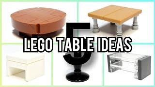 5 Lego Table Ideas | MOC Tutorial