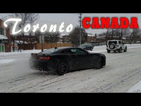 Заносит машину   Опять снег 2019-02-27   Жизнь в Канаде by Étoile Tube CANADA