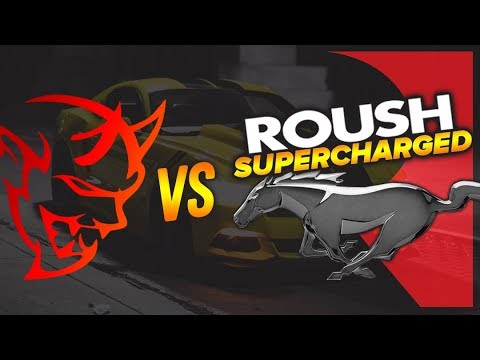 See Supercharged Roush Ford Mustang Duel Dodge Demon At Drag Strip