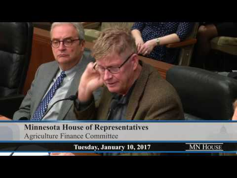 House Agriculture Finance Committee  1/10/17