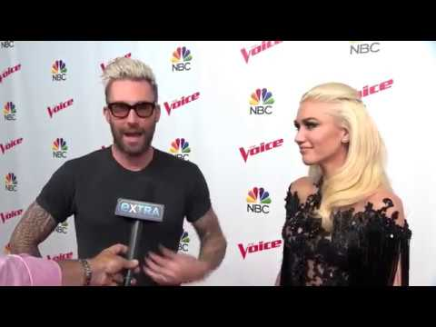 Gwen Stefani & Adam Levine Chat with Extra on The Voice Red Carpet, May 22, 2017