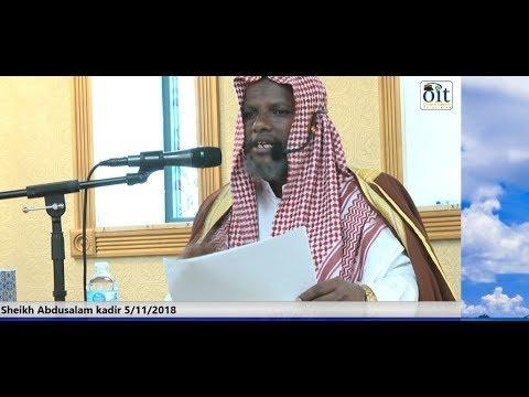shk Abdusalaam Kadir masjid Tawfiq Isamic Center irra 5/11/2018