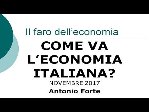 Come va l'economia italiana? Novembre 2017