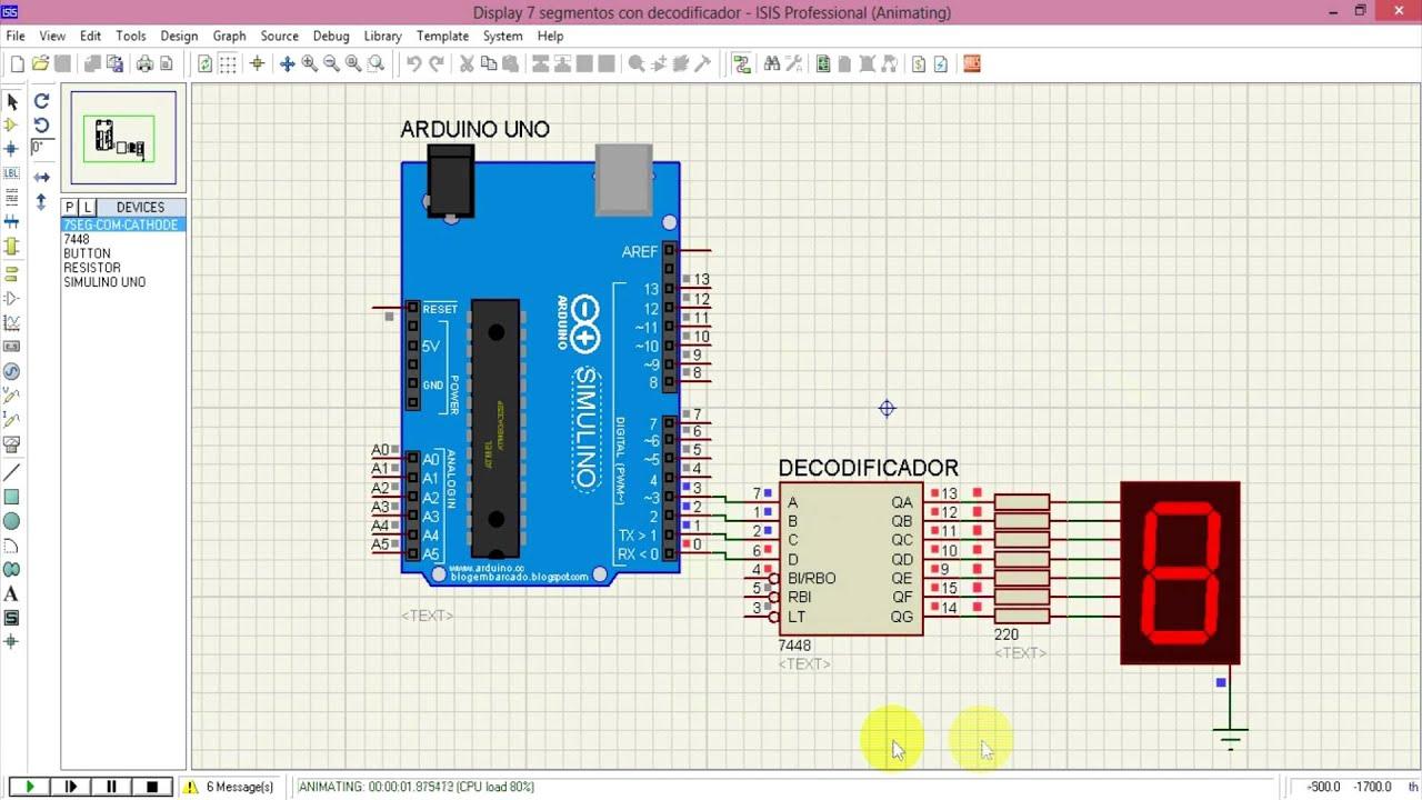Wampra jobs manejo de display con decodificador arduino