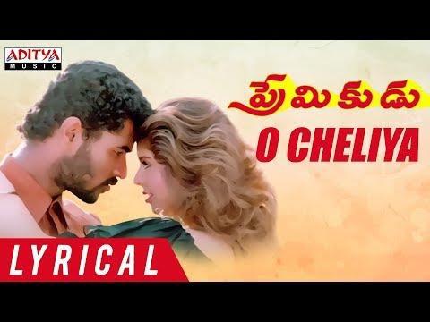 O Cheliya Lyrical    Premikudu Movie Songs    Prabhu Deva, Nagma    A R Rahman, Shankar