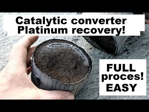 Catalytic converter - Platinum recovery - full proces!!!