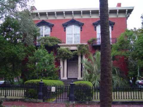 Savannah Georgia Historic Buildings Houses Featuring Mercer