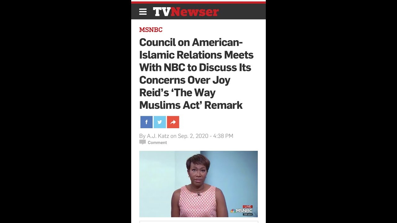 Joy Reid Offends Another Group With Offensive Comments, NAARC Says Class Fixes Race