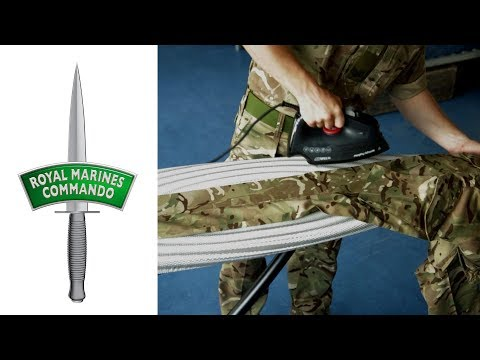Royal Marines: How to Iron your Uniform Trousers (1/5)