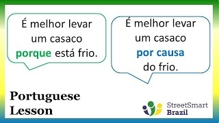 Baixar Portuguese Lesson: How to Use Porque and Por Causa de