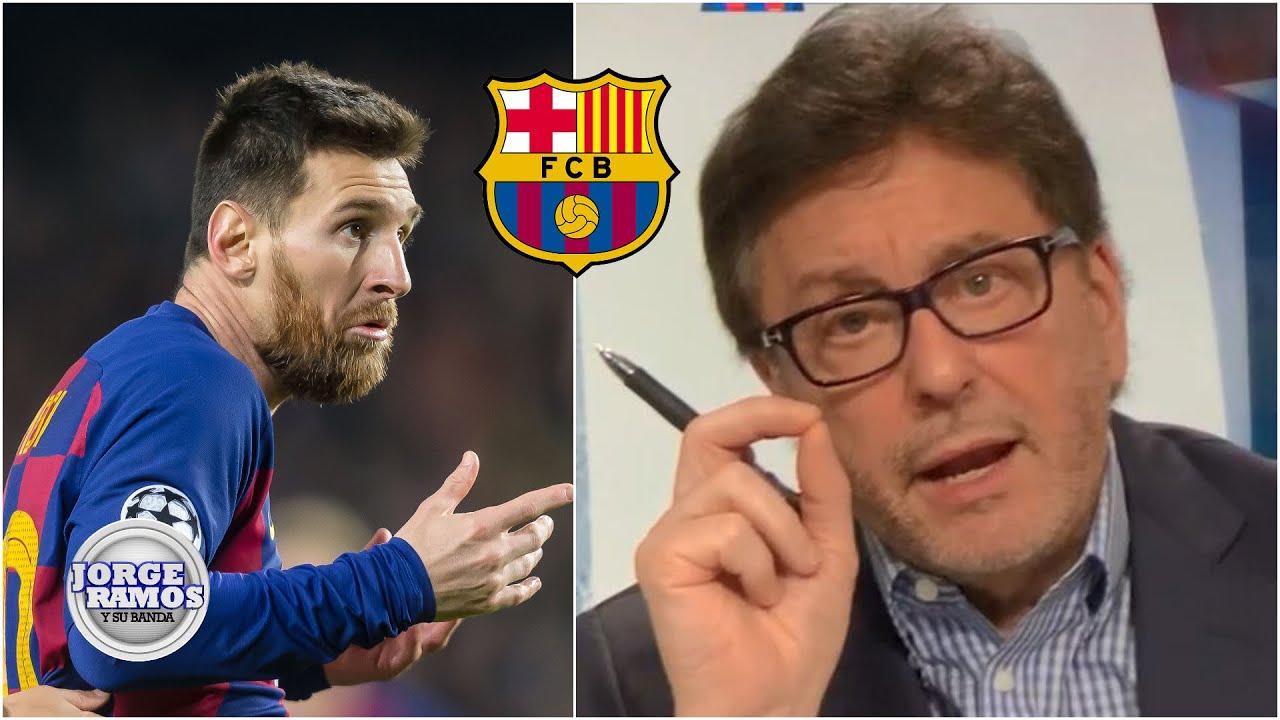 BOMBAZO 'Messi ya no va a jugar más en Barcelona': Jorge Ramos con todo   Jorge Ramos y Su Banda