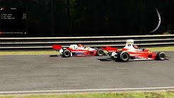 1970s Ferrari F1 cars: 4-wheeled 312T vs 6-wheeled 312T6 | Deep Forest Raceway [Assetto Corsa]