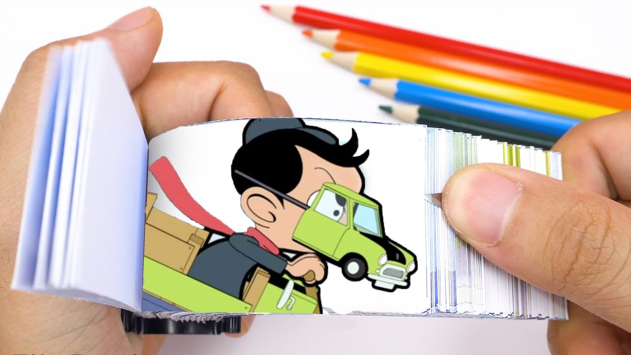 Mr Bean Flipbook #4   Go-Karting Bean Style Flipbook   Flip Flipbook #8