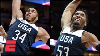 Jayson Tatum and Donovan Mitchell's big dunks lead USA basketball past Spain | FIBA World Cup
