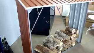 wiata metalowa na drewno cwd jak składować sezonować drewno