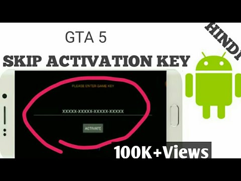 (HAND GAMEPLAY PROOF) How to SKIP ACTIVATION KEY IN GTA 5 ANDROID IN HINDI/URDU    Tech Uptodate