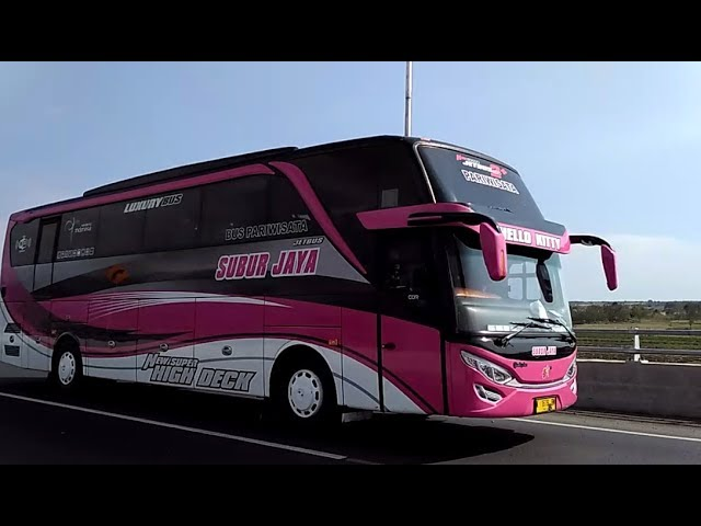 Unik!! Telolet Bis SUBUR JAYA New SHD Jetbus 2+ Luxury Bus Adiputro Hello Kitty