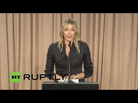 LIVE: Russian tennis player Maria Sharapova to make 'major a