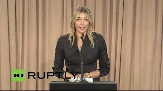 LIVE: Russian tennis player Maria Sharapova to make 'major announcement'