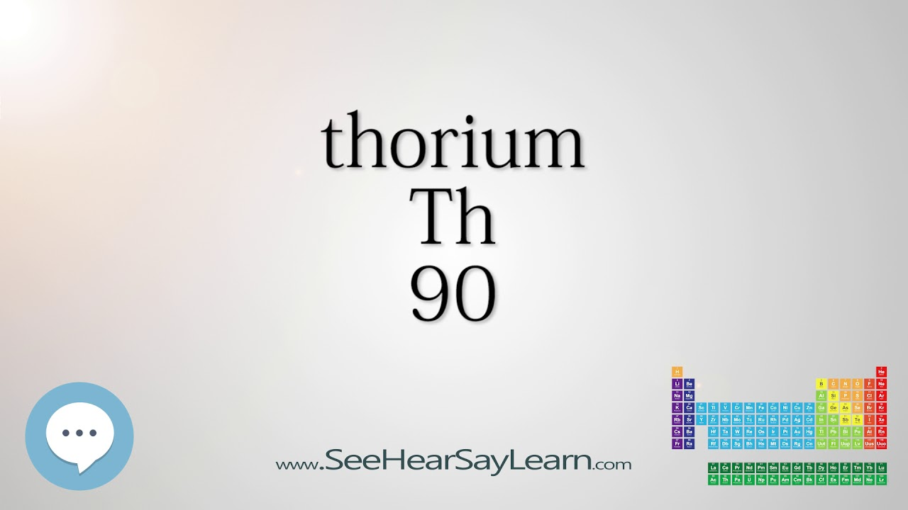Thorium Periodic Table Of Elements Youtube