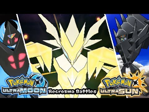 Pokemon UltraSun & UltraMoon - All Necrozma Battles (HQ)
