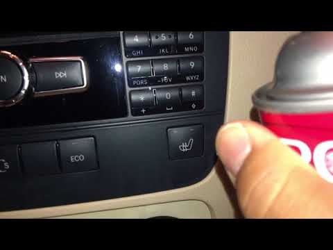 Clean Sticky Buttons On A Mercedes Glk 350