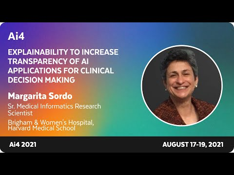 Explainability to Increase Transparency of AI Applications for Clinical Decision Making