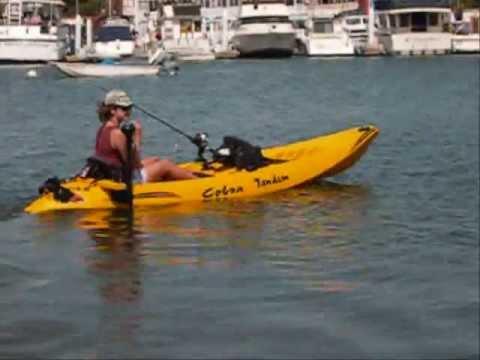 Kayak trolling motor youtube for Fishing kayak with trolling motor