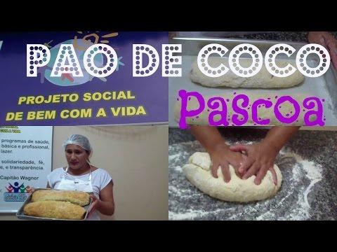 PÃO DE CÔCO ARTESANAL PARA A PASCOA