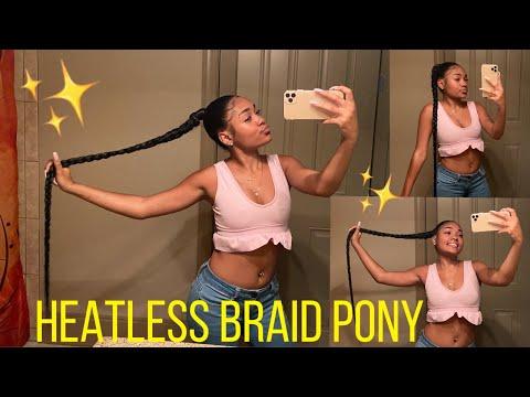 Heatless Braid Ponytail (EXTRA LONG)