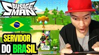 Jogando No servidor Do BRASIL SAUSAGE MAN