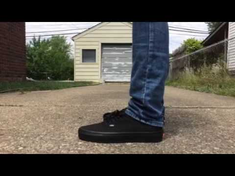 Authentic all black vans on feet - YouTube