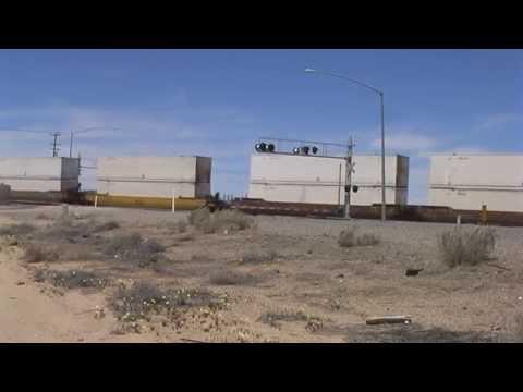 Trucks And Trains - Mojave Desert - California - USA - 2013