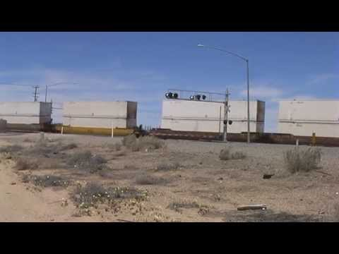 Trucks And Trains - Mojave Desert - California - USA - 2013