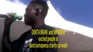 Gambar cover Dokta Brain, Salvado Comedian and Mr Mosh excited people at the Danz Kumapeesa Charity car wash