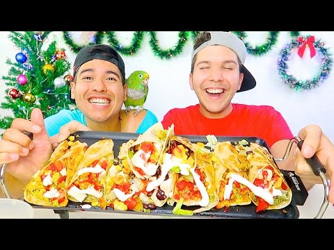 FRIED MEXICAN BURRITO • Mukbang & Recipe