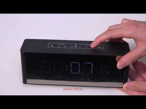 Bluetooth 3.0 Speaker with Alarm Clock FM Radio 3.5mm AUX Input