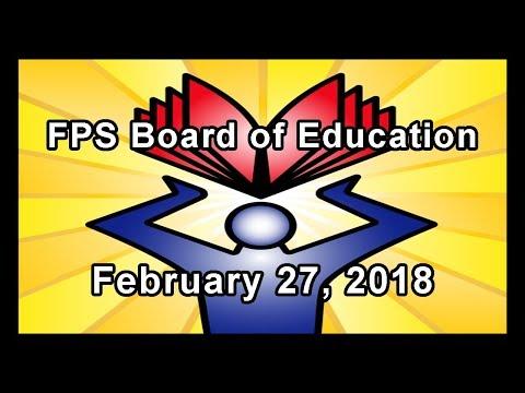 School Board Meeting - February 27, 2018
