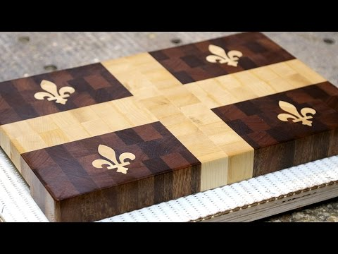 Making A Quot Quebec Flag Quot End Grain Cutting Board Youtube