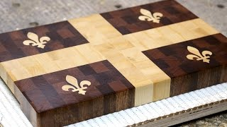 "Making A ""quebec Flag"" End Grain Cutting Board"