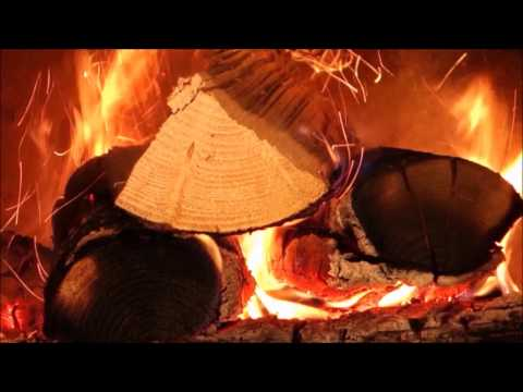 ♫ ♪ 10 HOURS ✰ Best Fireplace video with Soft Rain & Thunder - Full HD