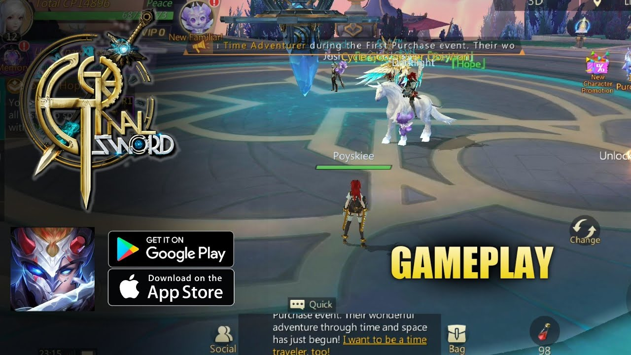 Eternal Sword M [English] Gameplay (Open World MMORPG) Android/ios