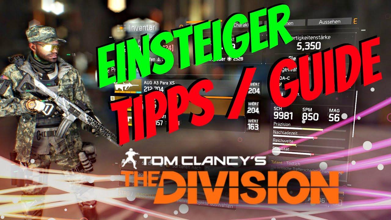 The Division Einsteiger Tipps